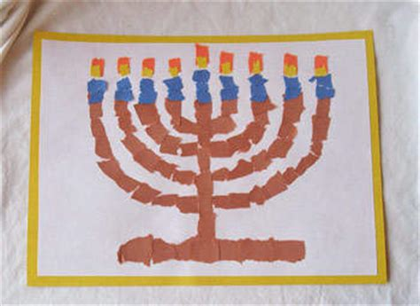 menorah craft projects random handprints a nyc live from new jersey