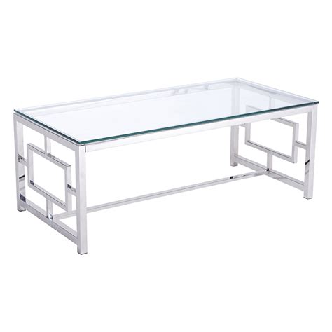 stainless coffee table geranium modern coffee table stainless steel