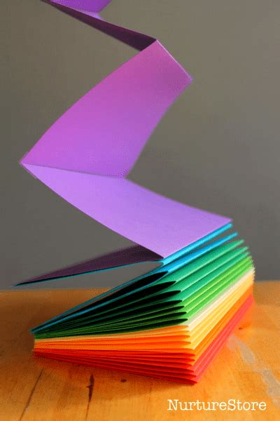 create a picture book how to make a rainbow zigzag book nurturestore