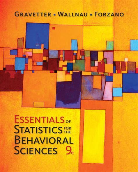 statistics for the behavioral sciences mindtap for psychology essentials of statistics for the behavioral sciences 9th