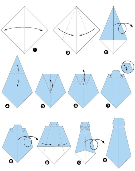how to make an origami tie origami of tie