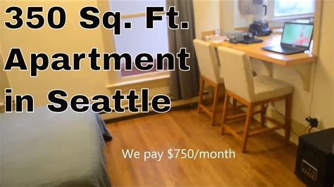 how many square in a studio apartment 350 sq ft apartment in seattle