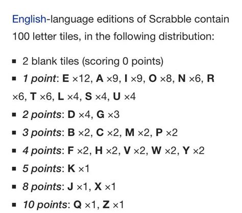 letter distribution in scrabble 301 moved permanently