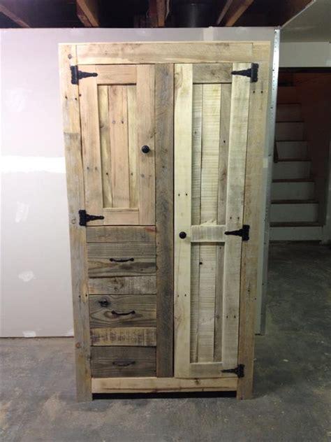 diy cabinet storage diy pallet cabinet for storage 101 pallets