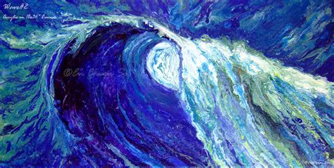 acrylic painting waves lighting