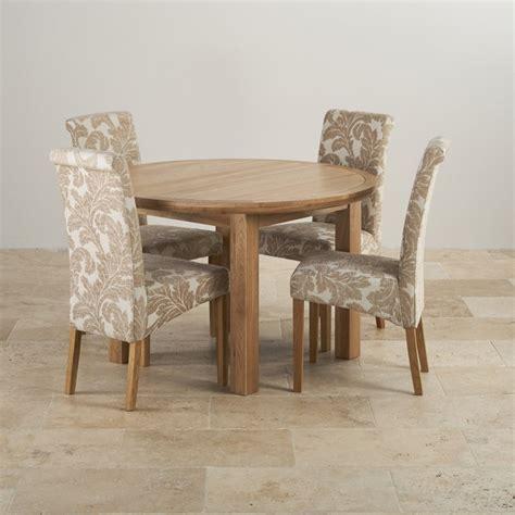knightsbridge oak dining set extending table 4