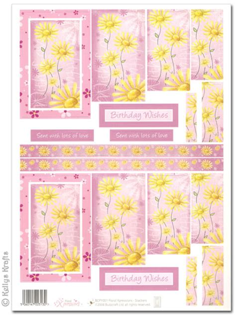 decoupage cut outs die cut 3d pyramid decoupage yellow flowers on pink