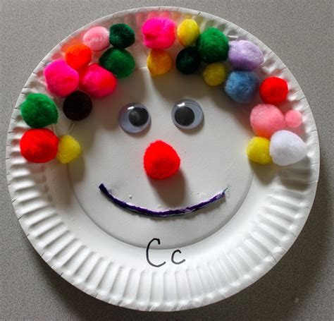 paper plate clown craft the activity paper plate craft c is for clown