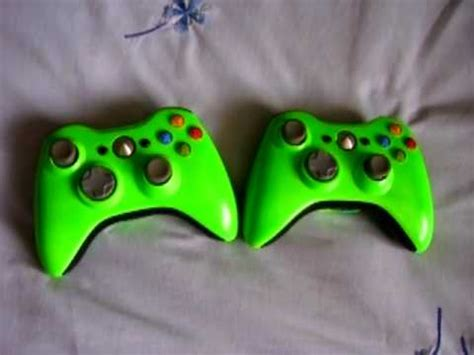 spray paint xbox 360 controller 2 green xbox 360 controllers spray painted