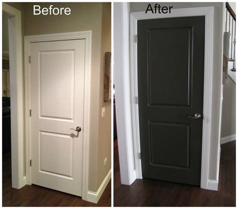 white matt paint for woodwork black interior doors before and after door before and