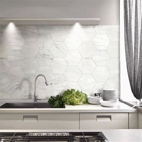 modern kitchen tiles 36 eye catchy hexagon tile ideas for kitchens digsdigs