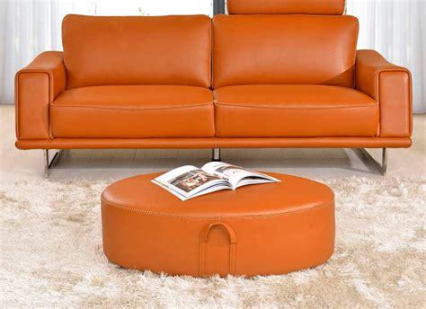 orange leather sofa sale modern orange leather sofa ef531 leather sofas