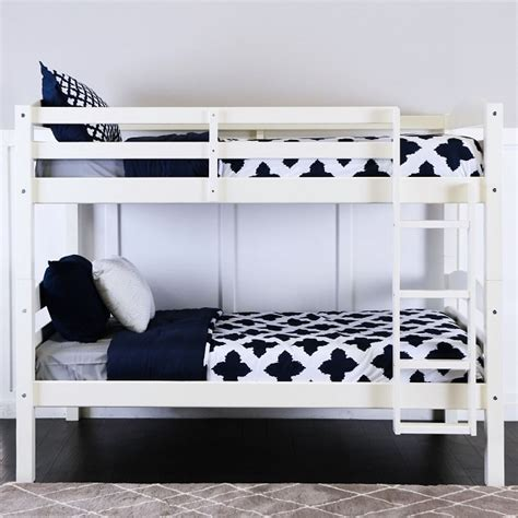 white bunk beds white wood bunk bed affordable solid wood bunk