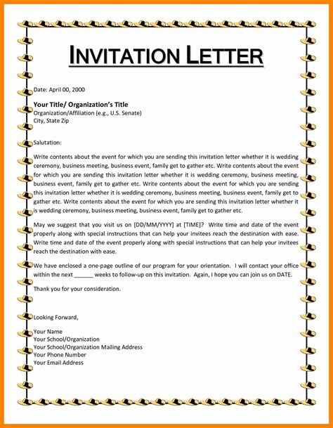 invitation to a 7 event invitation format resumes great
