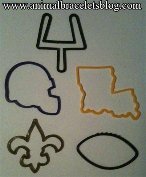 logo sts rubber nfl new orleans saints logo bandz silly bandz animal