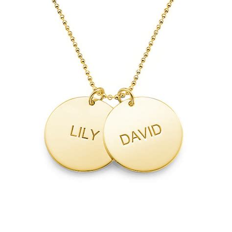 picture pendants jewelry personalized jewelry gold plated disc necklace