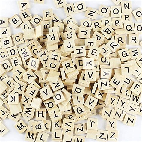 scrabble letter replacement amaonm 200 pcs diy wood letters letters tiles scrabble