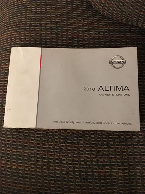 2010 Nissan Altima Owners Manual 2010 nissan altima owners manual mr parts jr
