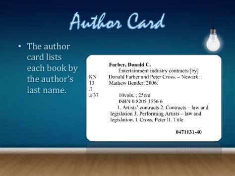 how to make a card catalog card catalogs