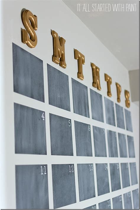 diy chalk paint wall chalkboard wall calendar diy it all started with paint