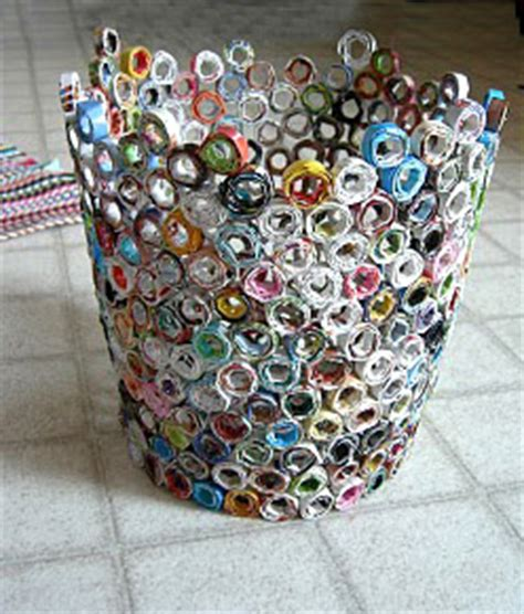 craft ideas from waste paper recycled mags waste paper baskets