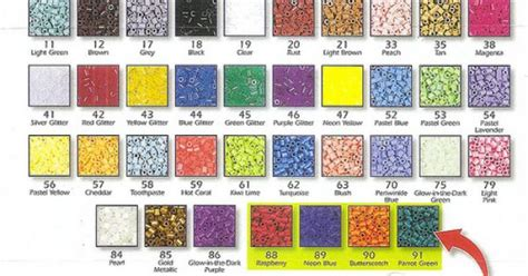 perler bead color chart perler bead color chart by margieelisabeth via flickr