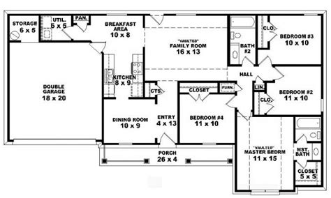 one story house plans with 4 bedrooms 4 bedroom one story ranch house plans inside 4 bedroom 2 story 5 bedroom floor plans