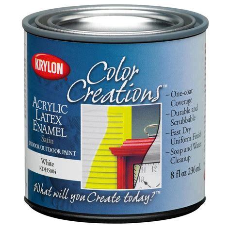 acrylic paint exterior wood shop krylon covermaxx white satin enamel interior