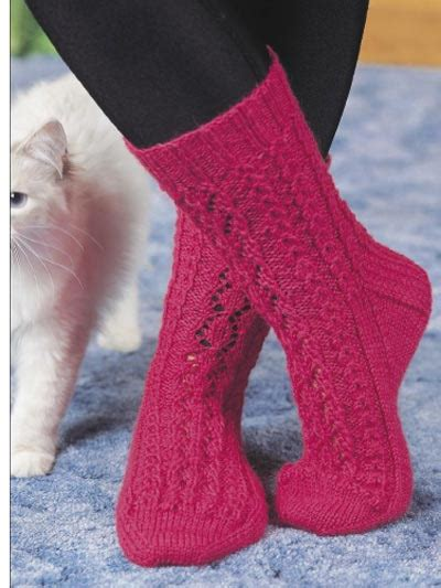 knitted patterns for free free sock knitting patterns lace leaf socks