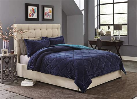 velvet comforter set cannon silky velvet comforter set blue home bed bath