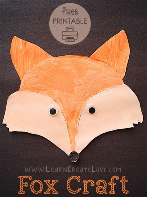 fox craft for printable fox craft
