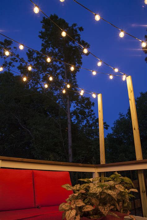 hanging lights patio hanging patio string lights a pattern of perfection
