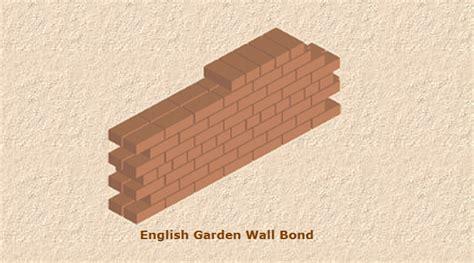 garden wall bond brickwork building materials brick bonding