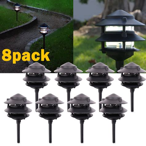 landscape spot lighting 8pack led outdoor landscape fixtures path lighting spot