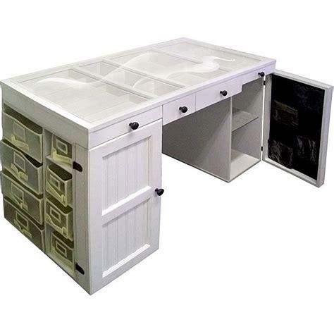 craft desk for original scrapbox ez view white craft office desk