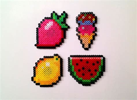 food perler pin by blessed beshores on diy crafts
