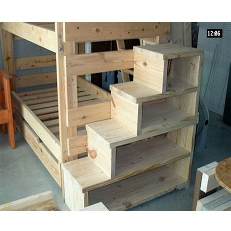 wood loft bunk bed solid wood custom made stairs for bunk or loft bed usmfs