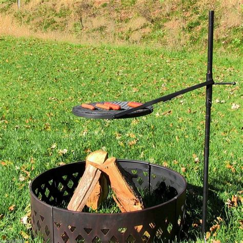 grill for pit build a pit with cooking grill in your backyard