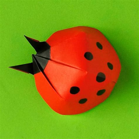 origami ladybug make an origami ladybug and bring yourself luck