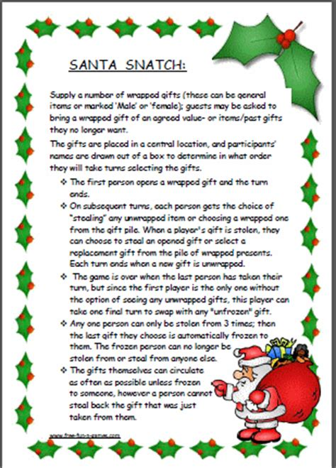 gift exchange stories santa snatch also known as santa