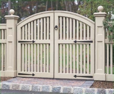 Yorktown Double Walk Gate Entrance Gates Wood Gates
