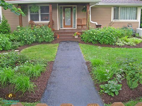 front page for a project warrenville project front yard shade garden with rain