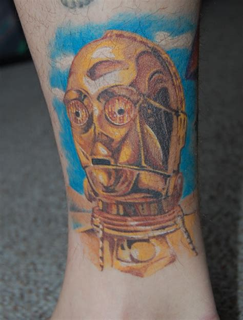 c3po tattoo color by stuntmanmike666 on deviantart