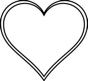 clipart heart outline clipart best