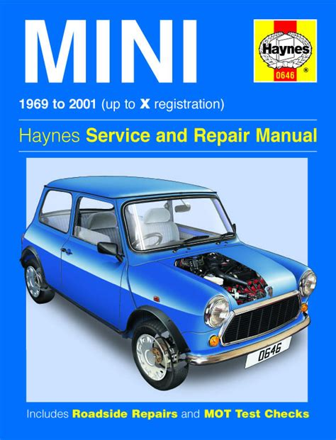 haynes 0646 workshop service repair manual guide mini 1969 to 2001 classic ebay
