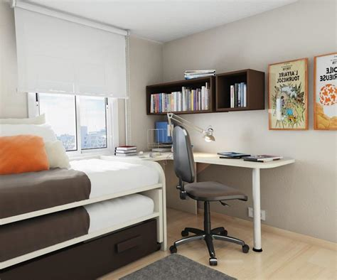 bedroom desks small bedroom desks for a narrow bedroom space homesfeed