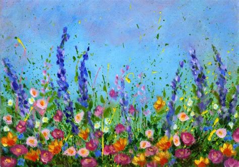 acrylic painting flowers canvas acrylic painting flowers on painting