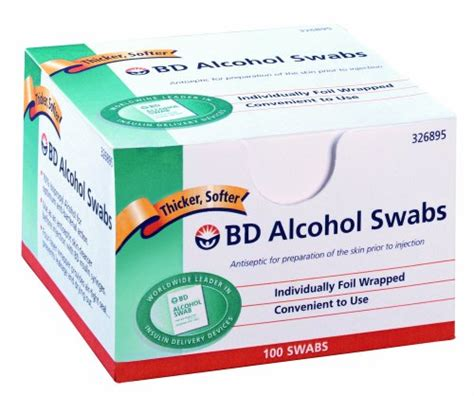 bd counting bd swab 100 units 12 count health care stuffs