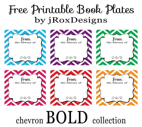 printable picture books personalized your library with free printable chevron book