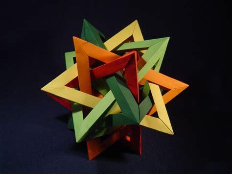 origami five intersecting tetrahedra five intersecting tetrahedra